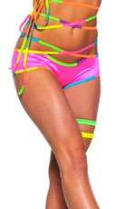 Strappy Infi-Neon Booty Short