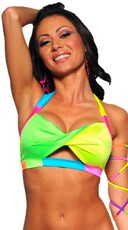 Neon Multicolor Twist Top