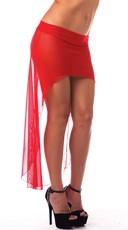 High Low Mesh Skirt