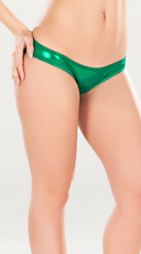 Metallic Green Scrunch Back Panty