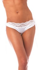 Lace Top Short With Removable Tie Sides