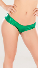 Metallic Green Micro Shorts