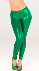 Metallic Green Leggings
