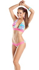 Flirty Fluorescent Halter Top and Bottom