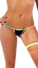 Neon Rainbow Confetti Thong