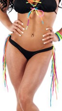 Rainbow Fringe Scrunch Back Panty
