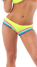 Scrunch Back Neon Rainbow Raver Shorts