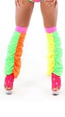 Neon Rainbow Scrunchy Leg Warmers