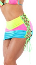 Neon Rainbow Pencil Skirt
