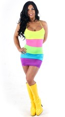 Glowstick Backless Dress