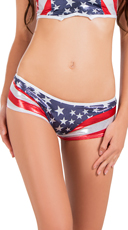 Stars and Stripes Scrunch Back Shorts