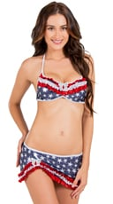 Ruffled Sweetheart 4th of July Bikini Set