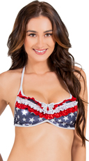 Ruffled Sweetheart Fourth th of July Top