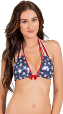 Fireworks Halter Bikini Top
