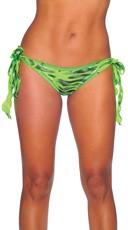 Zebra Print Tie Side Scrunch Rio Shorts