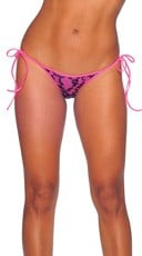 Lace Print Tie Side Mini Scrunch Bottom