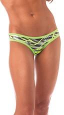 Zebra Print Scrunch Back Panty