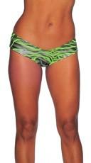 Zebra Print Scrunch Back Micro Shorts