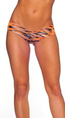 Zebra Print Scrunch Back Micro Shorts