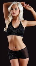 Showgirl Rhinestone Sports Bra and Shorts Set