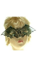 Bat Mask With Swarovski Crystals
