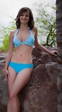Full Back Halter Style Bikini Set