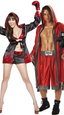 Ruby Glove Boxing Couples Costume