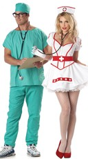 Nursing Scrubs Couples Costume