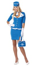 Retro Flight Attendant Costume