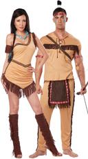 Native American Brave Couple Costume