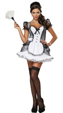 Plus Size Down and Dirty French Maid Costume