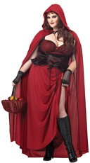 Plus Size Dark Red Riding Hood Costume