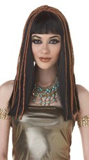 Egyptian Princess Wig W. Decorative Trim