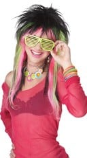Rave Candy Pink and Green Wig