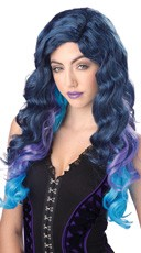 Blue Color Cascade Wig