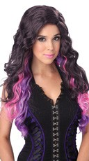 Purple Color Cascade Wig