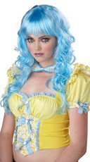 Blue Dollipop Wig