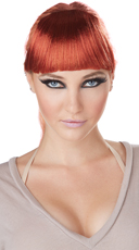 Red Clip-On Bangs