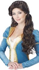 Brunette Medieval Beauty Wig