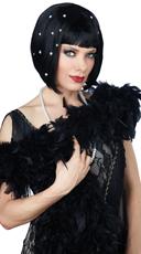 Short Black Flapper Wig