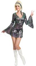 Psychedelic Swirl Disco Diva Costume