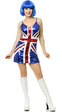British Pride Sequin Costume