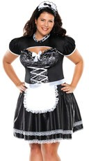 Plus Size Flirty French Maid Costume