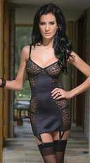 Leopard Mesh and Lycra Chemise