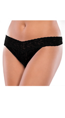 Plus Size Black All Lace Thong