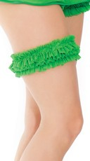 Stretchy Ruffled Garter with Bow