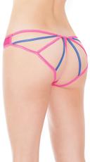 Plus Size Netty Neon Crotchless Bikini Panty