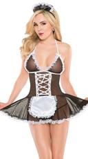 Mesh French Maid Babydoll