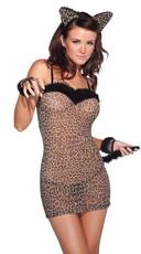 Sexy Feline Lingerie Costume