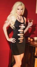 Black Slash Mini Dress